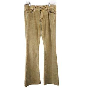 RED ENGINE Tan Corduroy Flare Jeans Vintage